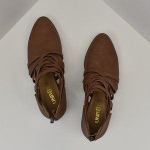 Unr8ed Brown Shoes with Strap Detail W6